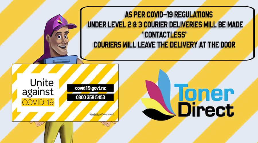 As per COVID-19 regulations, under Level 2 & Level 3 courier deliveries will be made contactless.  Couriers will leave the delivery at the door